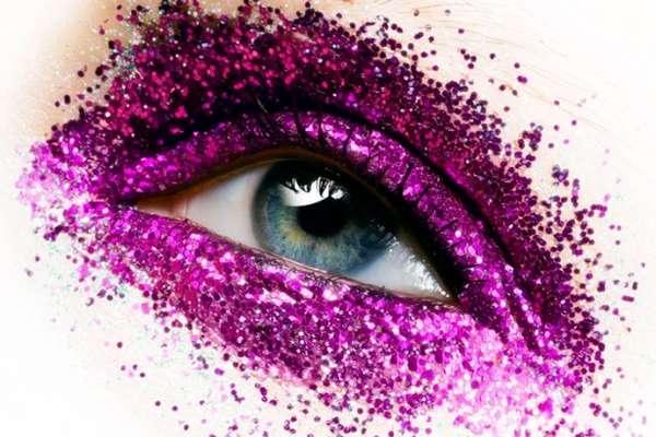 Glitter-Encrusted Eyelids