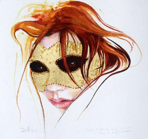 sensual mixed media portraits