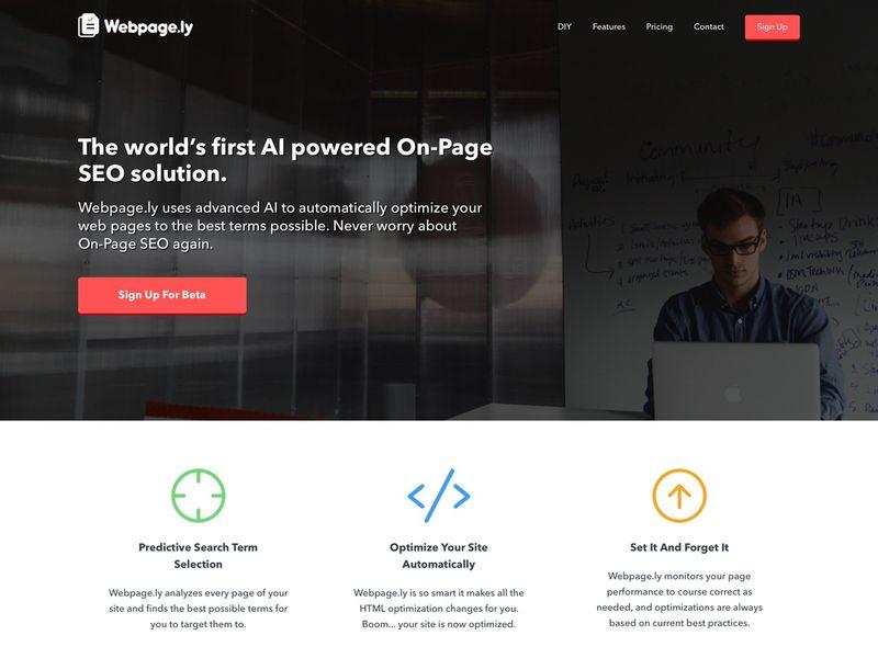 Automatically Optimized Websites