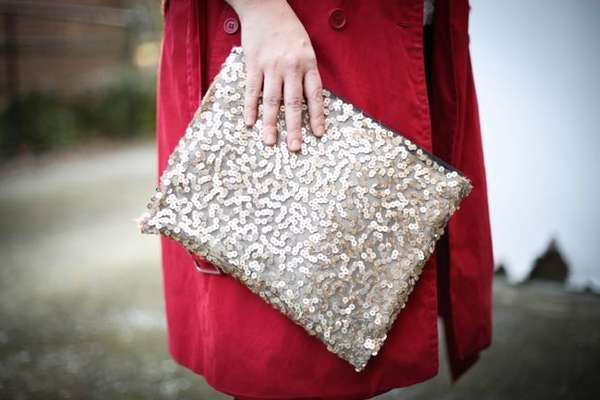Stitchless Sequin Clutches
