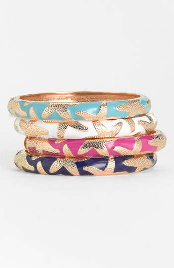 sequin small starfish enamel bangle