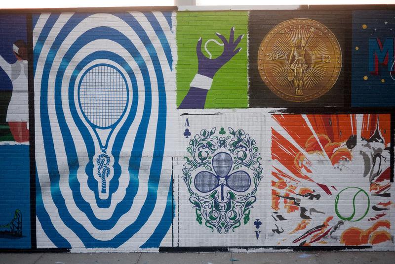 Tennis Star Tribute Murals