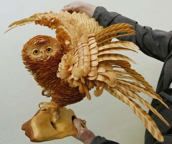 Wood Chip Sculptures