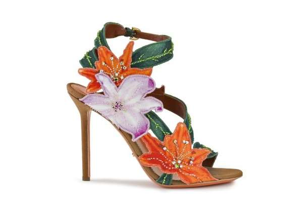 Ravishing Flower-Adorned Footwear