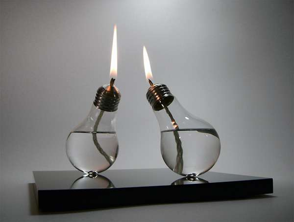 Bulbous Oil Lamps