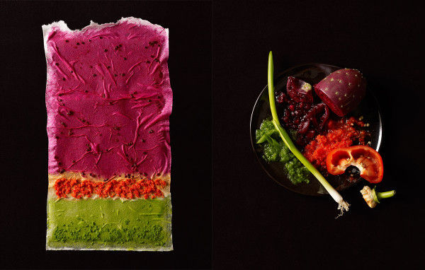 Food-Painted Canvases