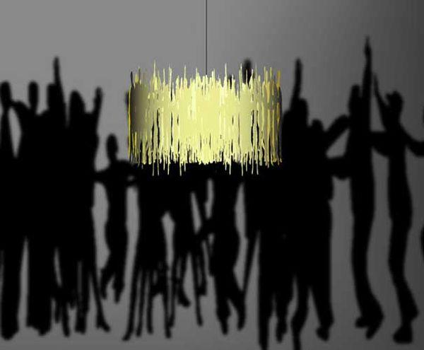 Shadow Lamps crowd shadow-casting shades : shadow lamp shade