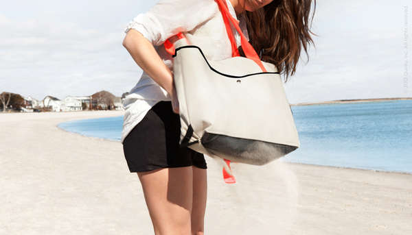 Mesh-Bottomed Handbags : Shake Beach Bag Collection