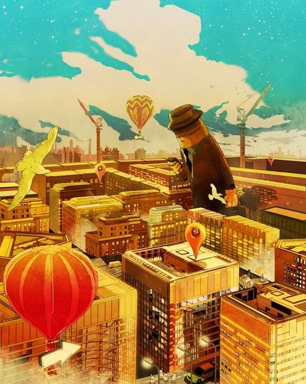 Lush Cartoon Cityscapes