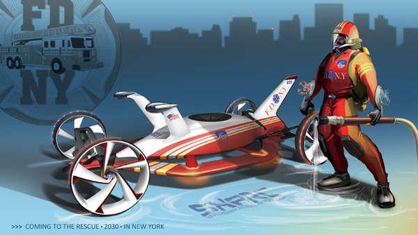 Futuristic Road Patrol Cars