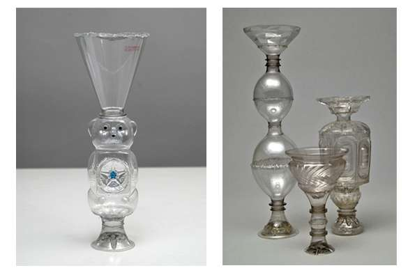 Ornate Plastic Bottle Vases