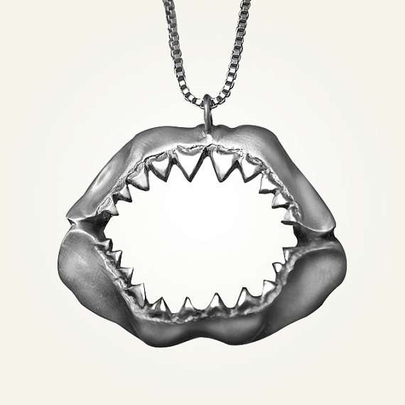 Shark Jaw Necklace by LUCIOUS Jewelry