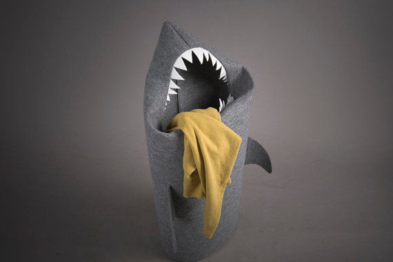 Shark Laundry Basket by Ultra Maryna