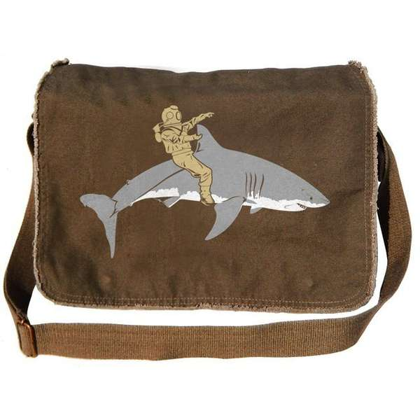 shark messenger bag