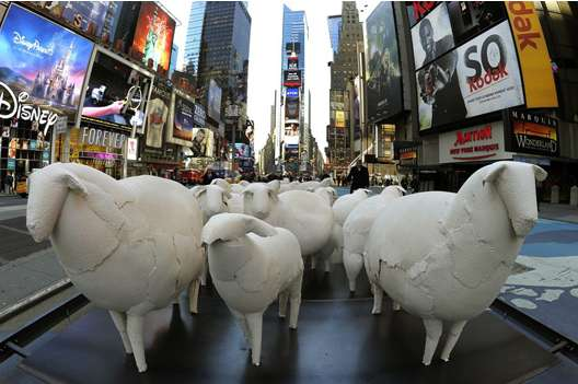 Sheep Sculptures by Kyu Seok Oh