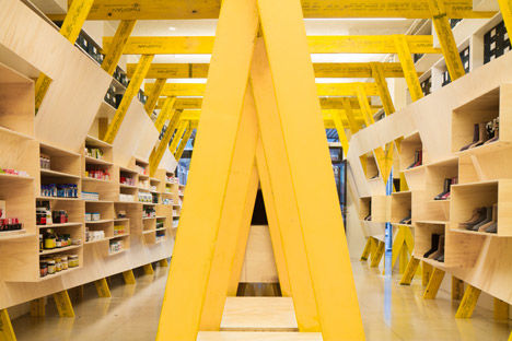 Exposed Pillar Shelves