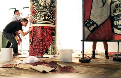 Shepard Fairey and Andre Saraiva