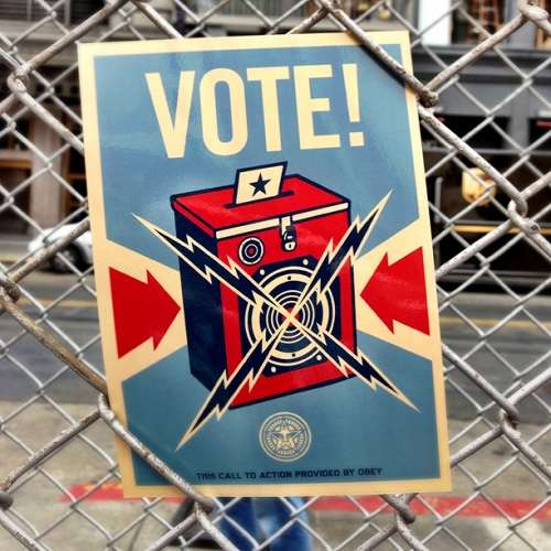 Shepard Fairey Vote Postcard