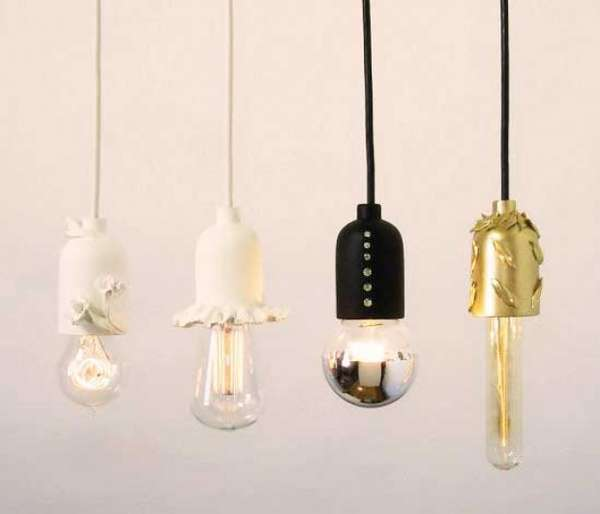 Chic Tailor Made Chandeliers That Shine With Elegance: Elegant Bare Bulb Fixtures : Shine Labs Solo Pendant