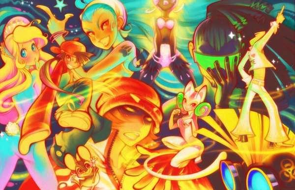 Cute Kaleidoscopic Cartoons