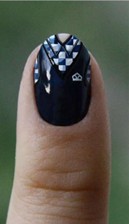 Shirt Collar Nail Designs