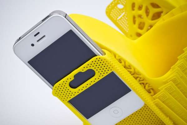 Sleek Phone-Holding Shoes