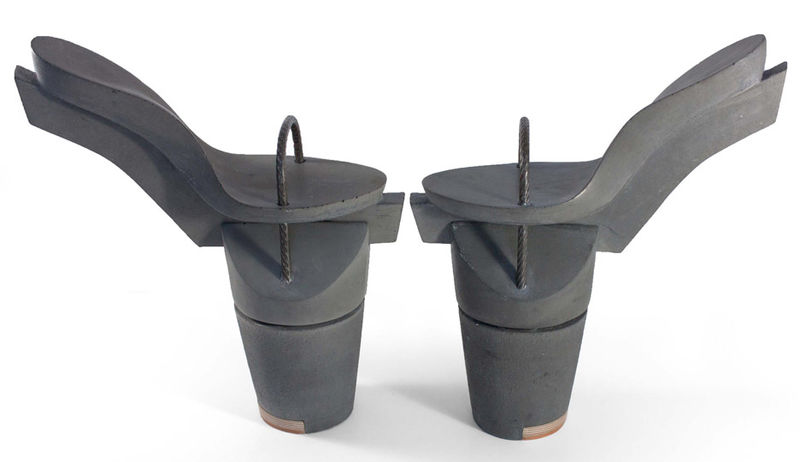 Immovable Shoe Sculptures