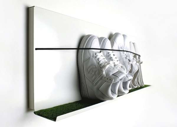 Wall-Mounted Sneaker Racks