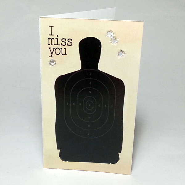 shooting target card 