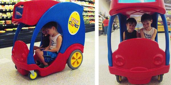 Playful Electronic Shopping Carts