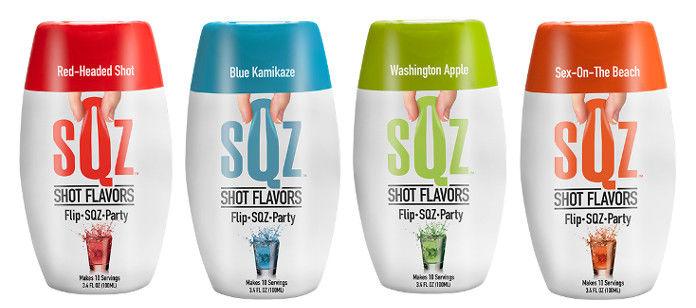 Squeezable Shot Flavors