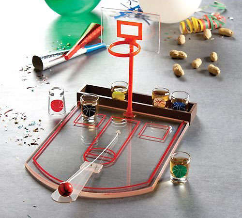 Shot Glass Basketball Bar Game