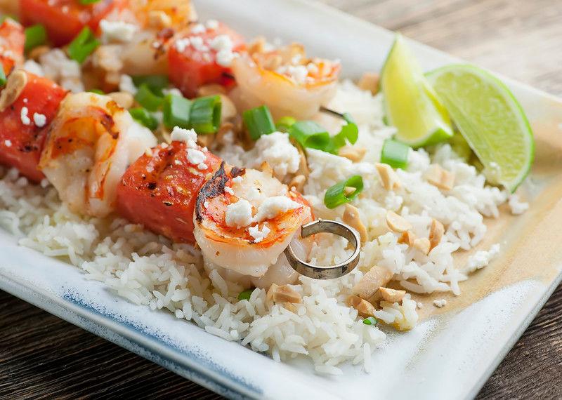 Fruity Shrimp Skewers