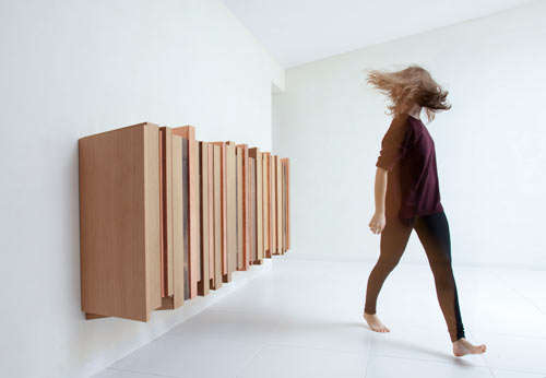 Asymmetrical Planked Furniture