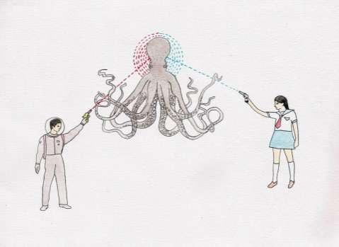 Octopus-Slaying Illustrations