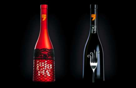siete pecados wine packaging