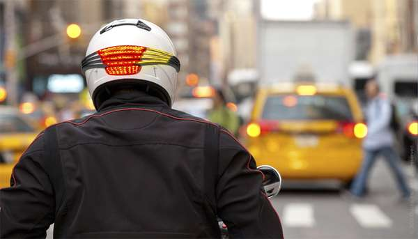 Head-Mounted Motorbike Indicators