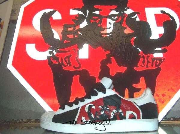 Street Sign Sneakers