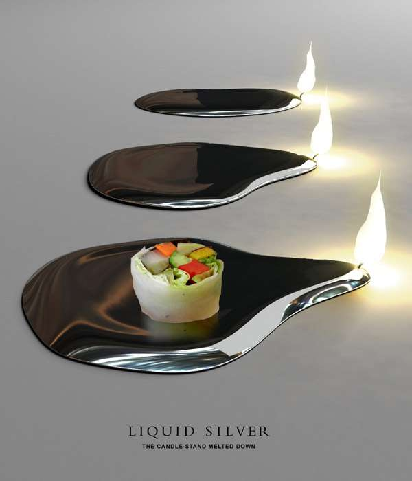 Silver Plates as Candles