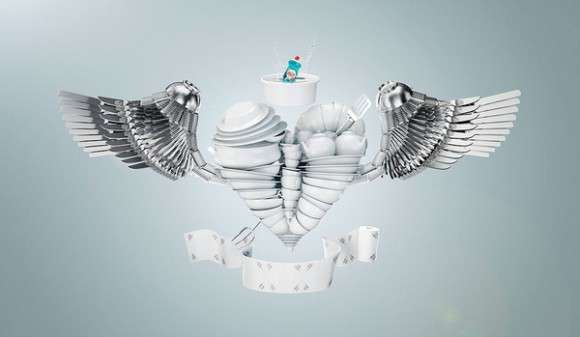 Digital 3D Dish Art