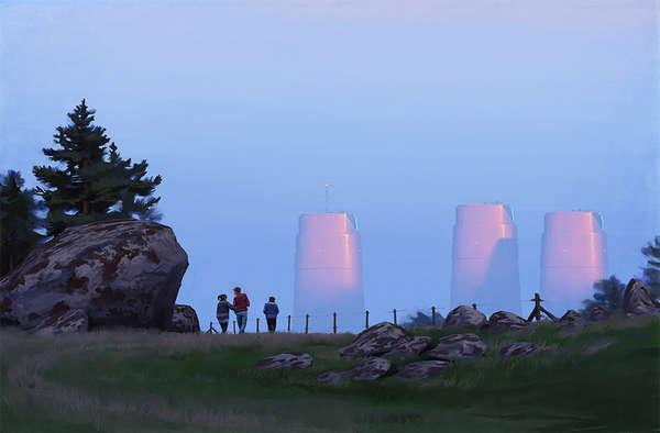 Sci-fi Suburbia Paintings