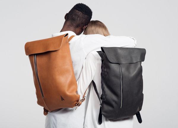 Minimalist Leather Knapsacks
