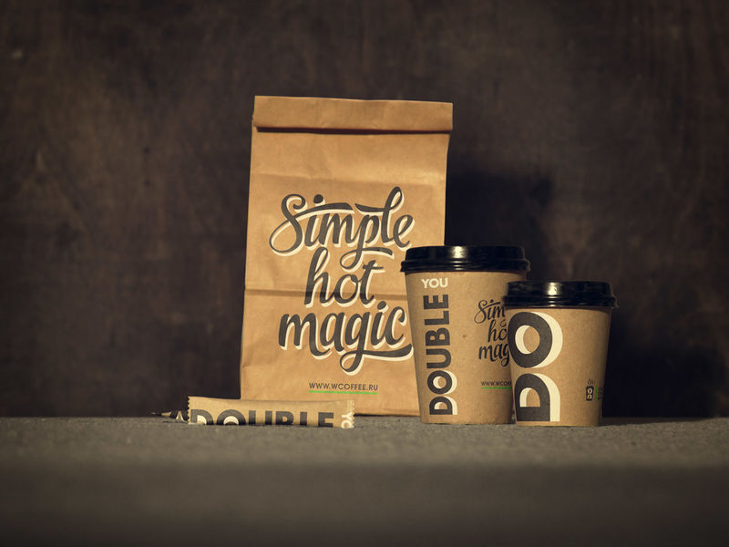 Type-Centric Coffee Branding