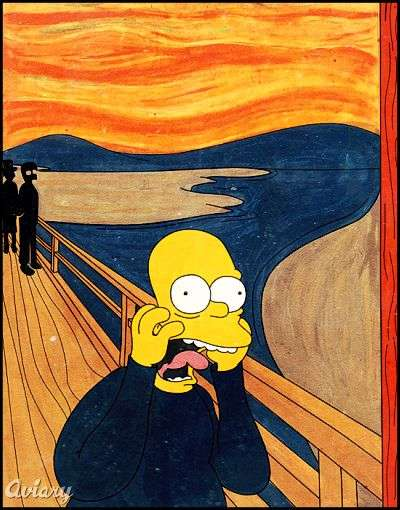 Simpsonized Classic Art
