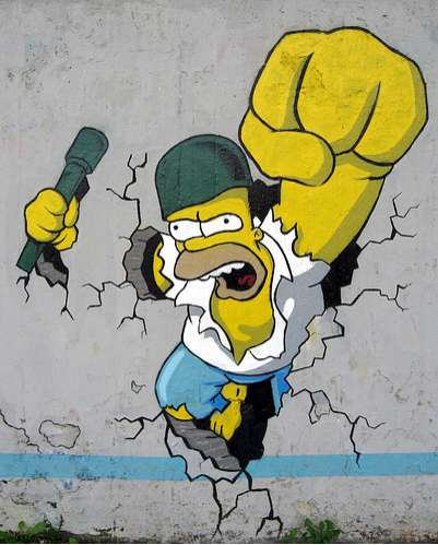 'The Simpsons' Street Art