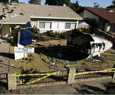 Simulated Plane Crash Intense Halloween Decorations