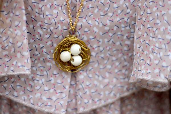 DIY Nest Necklaces