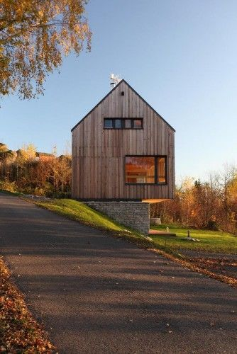 Subtly Cantilevered Houses