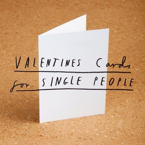 Solitary Valentine's Cards