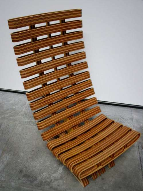 Sloping Wood Loungers